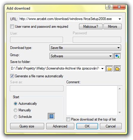 how to add download option in free download manager