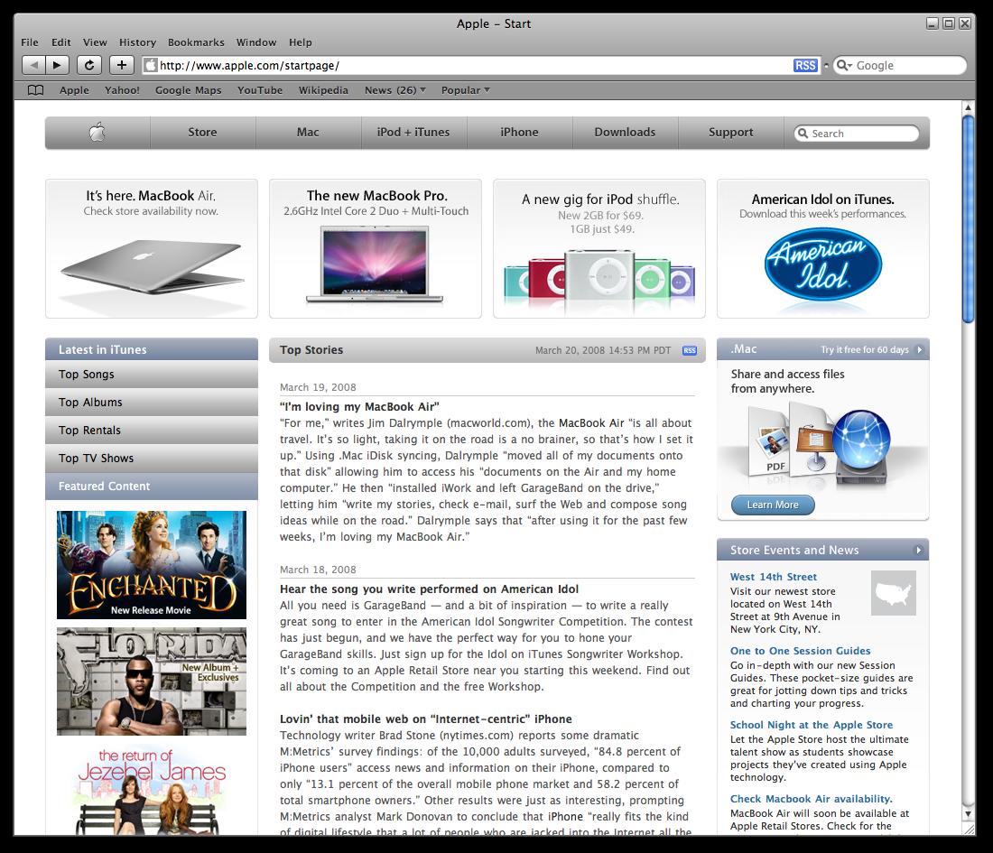 Safari 3 1 - first start   Screenshots Archive