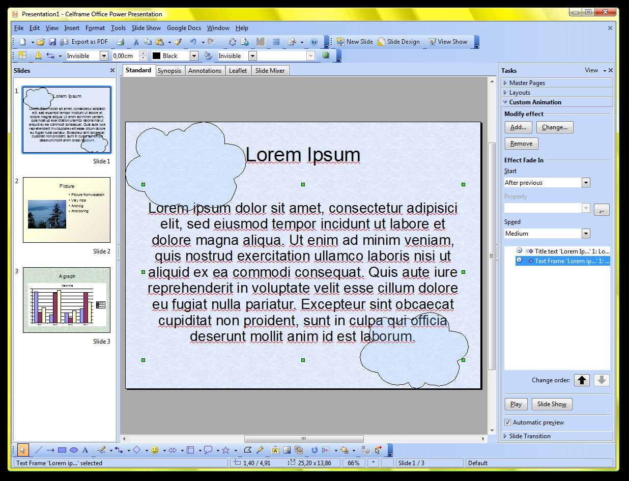 celframe office 2008 power presentation screenshots archive
