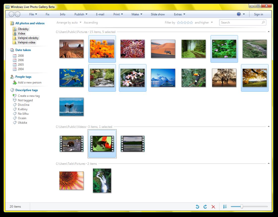 Windows Live 3 Beta - Photo Gallery - Gallery | Screenshots Archive