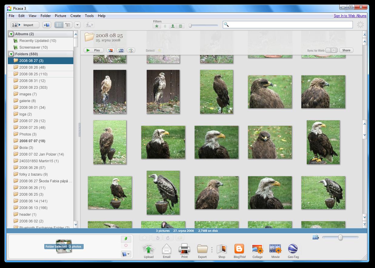 Picasa 3: image library | Screenshots Archive